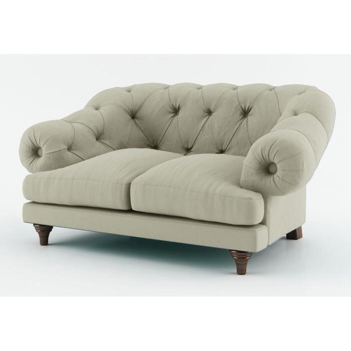 Canap king 2 places coloris gris achat vente canap sofa - Canapes habitat soldes ...