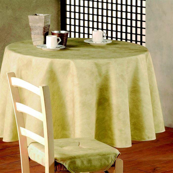 Nappe ronde diam tre 180 cm beton cire ivoire achat vente nappe de table - Table ronde 180 cm diametre ...