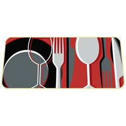 id mat tapis decor cuisine vaisselle 50x120 achat vente tapis de cuisine soldes d t. Black Bedroom Furniture Sets. Home Design Ideas