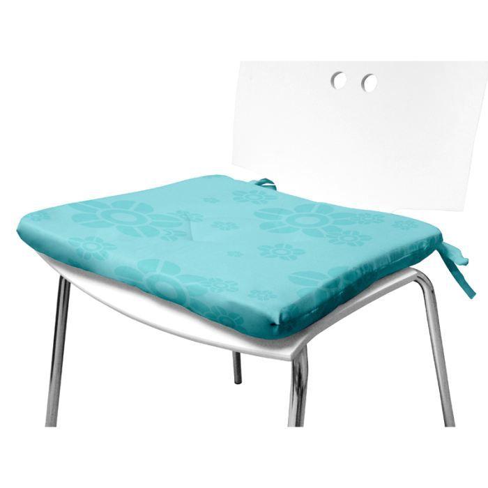 dessus de chaise flower turquoise 40x40 cm achat vente coussin de chaise soldes d hiver. Black Bedroom Furniture Sets. Home Design Ideas