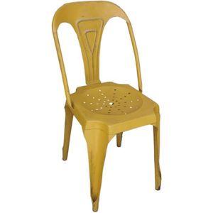 fauteuil vintage jaune achat vente fauteuil vintage jaune pas cher soldes cdiscount. Black Bedroom Furniture Sets. Home Design Ideas