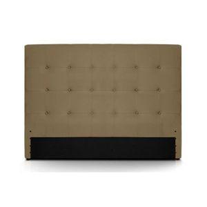 tete de lit 160 capitonne cuir pu taupe romeo achat vente t te de lit cdiscount. Black Bedroom Furniture Sets. Home Design Ideas