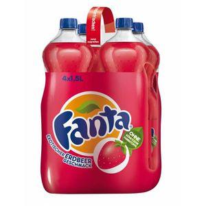 Soda - Thé glacé Fanta Fraise 4 x 1,5l bouteilles