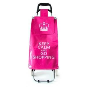chariot de courses keep calm and go shopping 2 achat. Black Bedroom Furniture Sets. Home Design Ideas