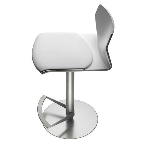 tabouret de bar lapalma kai bois blanc laqu pas de coussin achat vente tabouret de bar. Black Bedroom Furniture Sets. Home Design Ideas