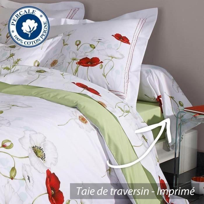 taie de traversin 200x43 cm percale pur coton seduction achat vente taie d 39 oreiller cdiscount. Black Bedroom Furniture Sets. Home Design Ideas