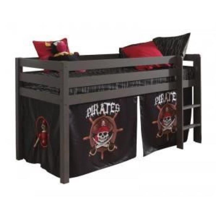 paris prix lit enfant sans toboggan pino pirates ii gris achat vente lit complet paris. Black Bedroom Furniture Sets. Home Design Ideas