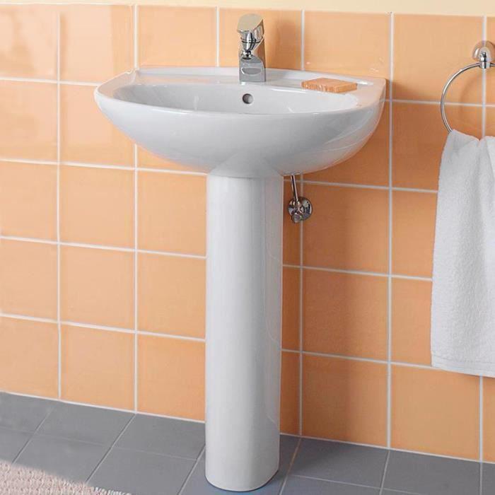 lavabo a colonne achat vente lavabo a colonne pas cher les soldes sur cdiscount cdiscount. Black Bedroom Furniture Sets. Home Design Ideas