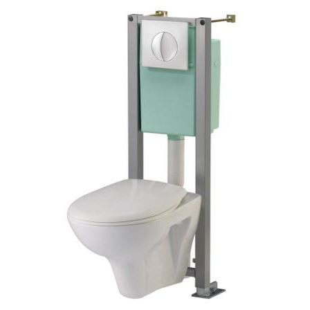 Pack wc suspendu siamp complet cottage achat vente wc toilettes pack wc - Prix pose wc suspendu ...