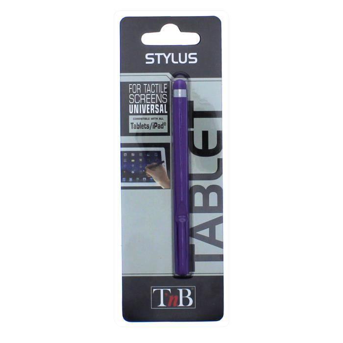 tnb stylet universel pour tablette tactile violet prix. Black Bedroom Furniture Sets. Home Design Ideas