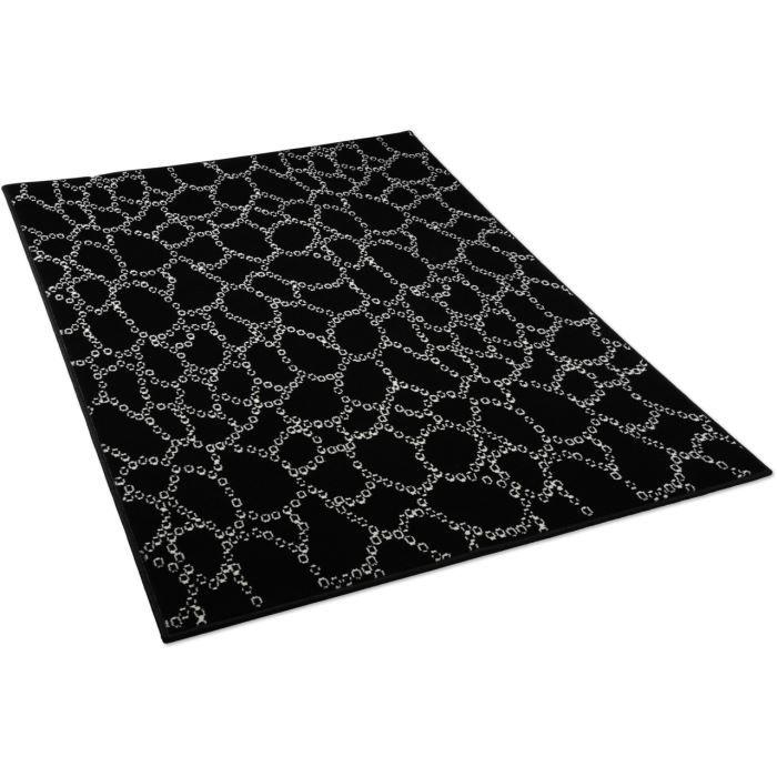 tapis salon peau de serpent noir universol 12 achat. Black Bedroom Furniture Sets. Home Design Ideas