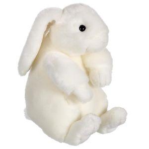 GIPSY Peluche Lapinou Assis 22 cm Blanc