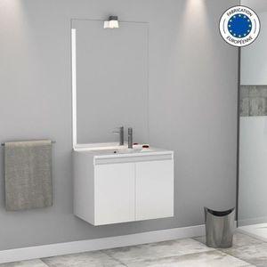 LAVABO - VASQUE Meuble salle de bain simple vasque PROLINE 70 - Bl