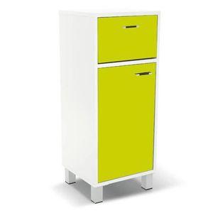 Meuble vert anis achat vente meuble vert anis pas cher for Colonne salle de bain vert anis