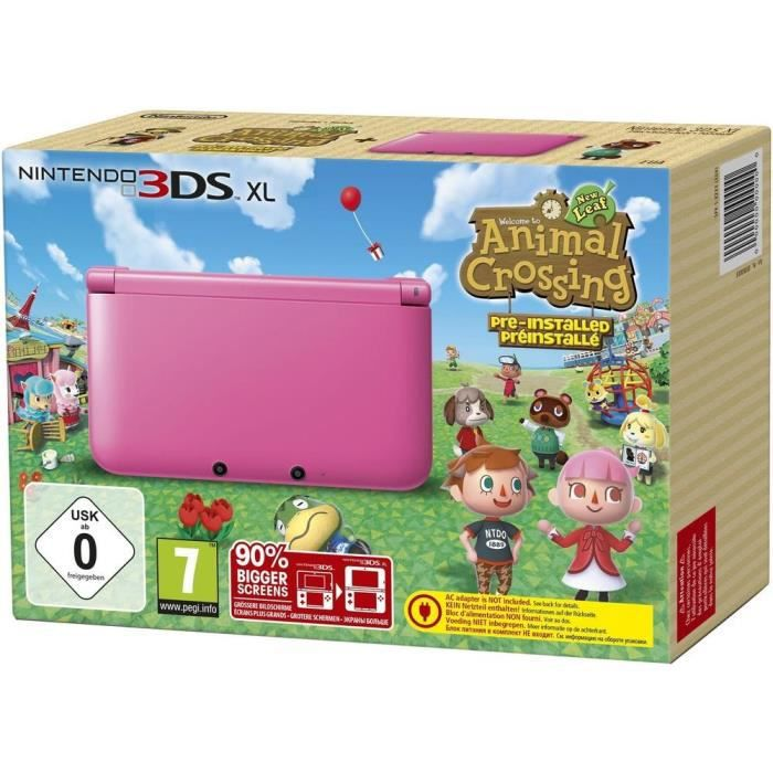 jeux pc video console consoles pack ds xl rose jeu animal crossing f