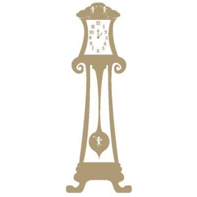 Sticker horloge baroque pour d coration mural 140 x 51 - Stickers baroque pour meuble ...