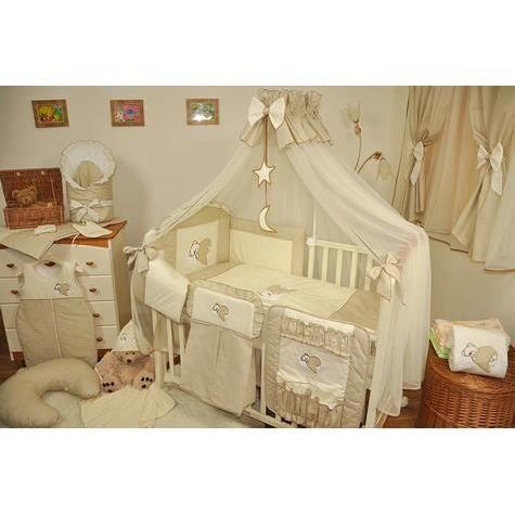 Set de lit de luxe 9 pi ces pour filles et gar ons 24 diff rents designs 21 nuage cru marron for Lit bebe luxe