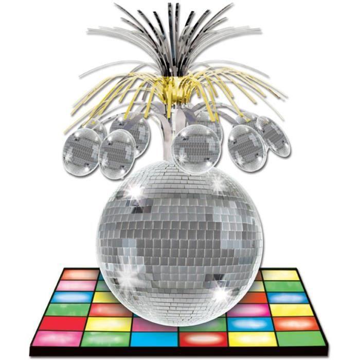Centre de table disco achat vente d coration de table for Deco murale annee 70