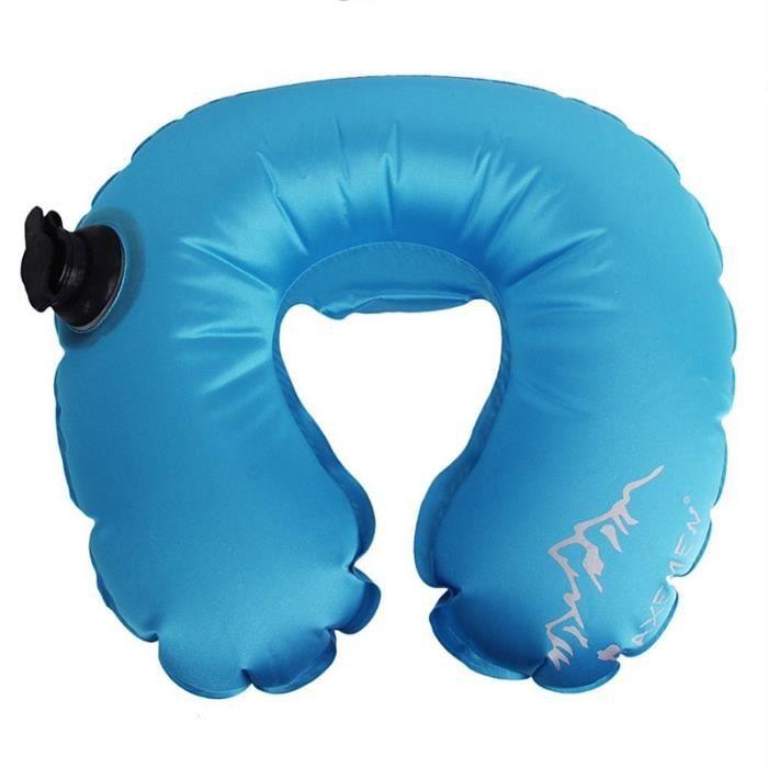 oreiller de cou gonflable voyage bleu de ciel achat vente oreiller de voyage 8884161076645. Black Bedroom Furniture Sets. Home Design Ideas