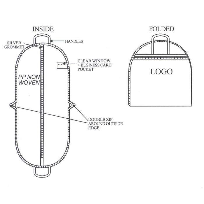 housse de voyage pour costume gamme standard achat vente housse de rangement housse de. Black Bedroom Furniture Sets. Home Design Ideas