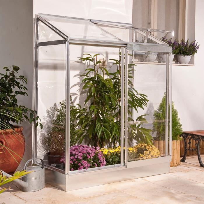 serre adoss e en polycarbonate 24 dim 129 x 68 x 165 cm achat vente serre de jardinage. Black Bedroom Furniture Sets. Home Design Ideas