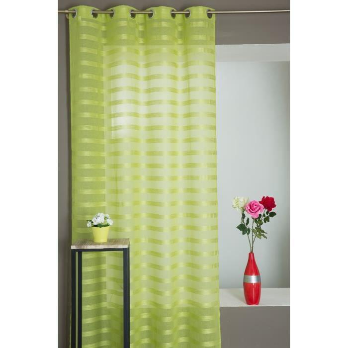 rideaux voilage vert achat vente rideaux voilage vert pas cher les soldes sur cdiscount. Black Bedroom Furniture Sets. Home Design Ideas