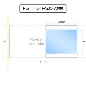 Miroir salle de bain largeur 80 cm achat vente miroir for Applique led salle de bain 80 cm