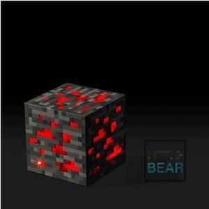 OBJET DÉCORATIF Minecraft Allumer pierre rouge diamant carré Nuit
