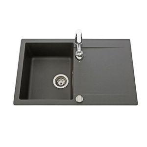 evier noir 1 bac achat vente evier noir 1 bac pas cher cdiscount. Black Bedroom Furniture Sets. Home Design Ideas