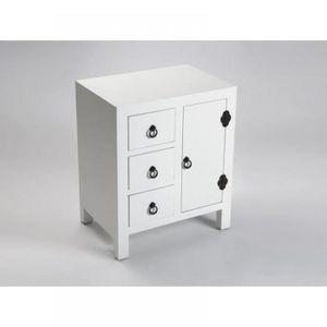table de chevet bois achat vente table de chevet bois pas cher cdiscount. Black Bedroom Furniture Sets. Home Design Ideas