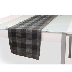 CHEMIN DE TABLE SOLEIL D'OCRE Chemin de table Lyam 40x140 cm gris