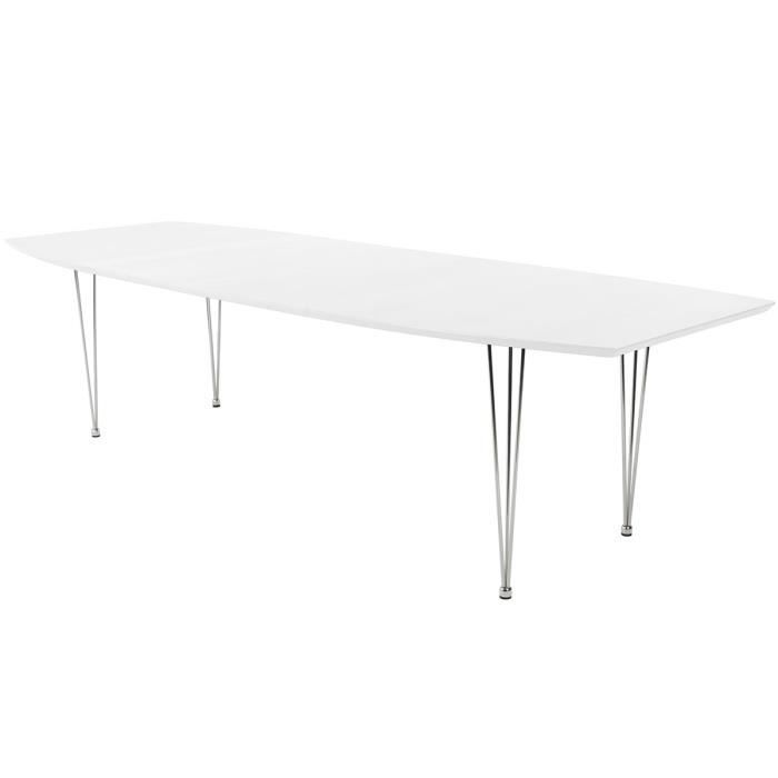 Table manger extensible 270 cm blanc wilson achat for Table a manger blanc