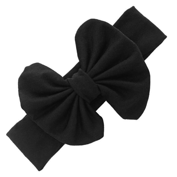Bandeau Serre,Tête Bébé Enfant Fille Accessoire Cheveux Noeud Papillon Noir Élastique
