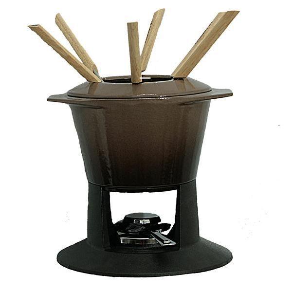 le creuset service a fondue terre naturelle achat. Black Bedroom Furniture Sets. Home Design Ideas