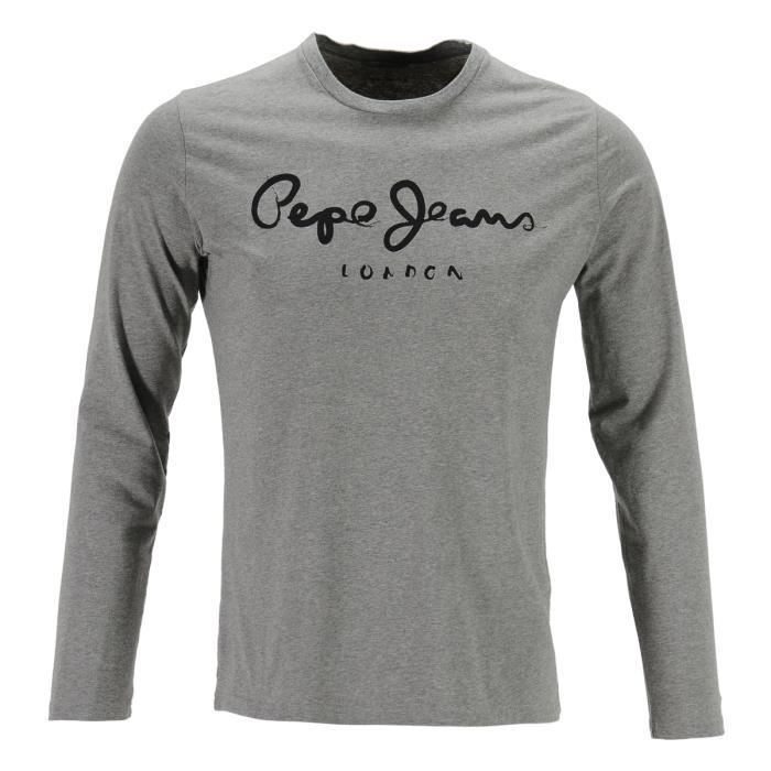 Jean Pepe Jeans Homme Pepe Jeans T-shirt Homme Gris