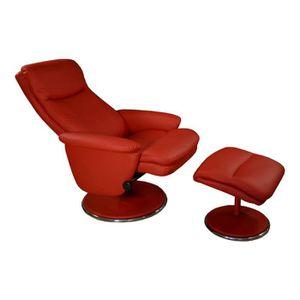 Fauteuil de relaxation rouge achat vente fauteuil de relaxation rouge pas - Fauteuil rouge pas cher ...