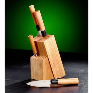 Bloc en bois pour couteaux achat vente bloc en bois pour couteaux pas cher soldes cdiscount - Bloc en bois pour couteau ...