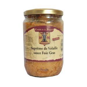 PLAT A BASE DE VIANDE COMTE DE LA SEYNIE Suprême de Volaille Sauce Foie
