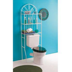 Etagere pour wc achat vente etagere pour wc pas cher for Armoire dessus toilette