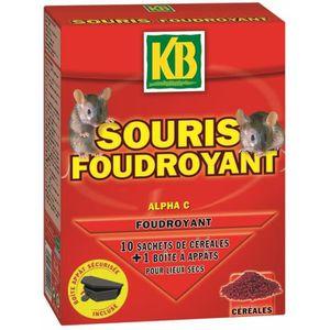 Répulsif pour nuisible Souris foudroyant & appât 10x10G