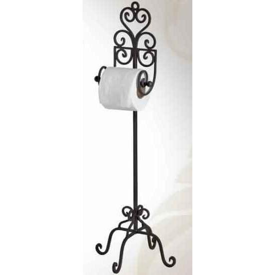 Porte rouleau wc en fer forge achat vente serviteur wc porte rouleau wc en fer for cdiscount for Model porte en fer forge