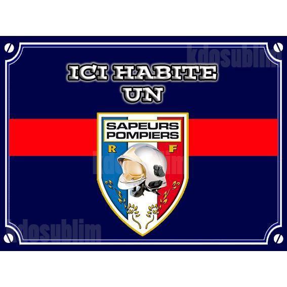 Plaque alu plaque de rue sapeurs pompiers achat vente for Plaque de decoration murale