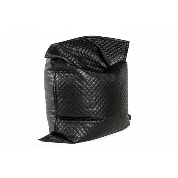 pouf g ant matelass noir flash achat vente pouf poire polyur thane pu 100 jute cdiscount. Black Bedroom Furniture Sets. Home Design Ideas