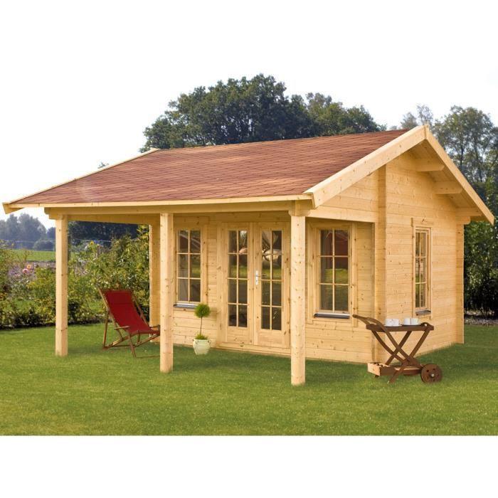 Abri bois x x m 45 mm achat - Maison jardin bois castorama mulhouse ...