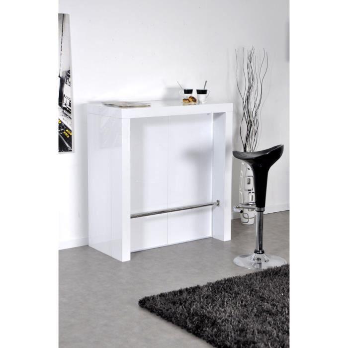 Extend bar blanc bar console haute et extensible achat - Meuble console haute ...