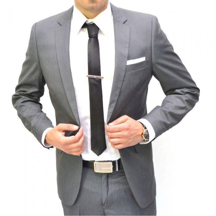 costume homme gris cintr 2 boutons achat vente ensemble de v tements cdiscount. Black Bedroom Furniture Sets. Home Design Ideas