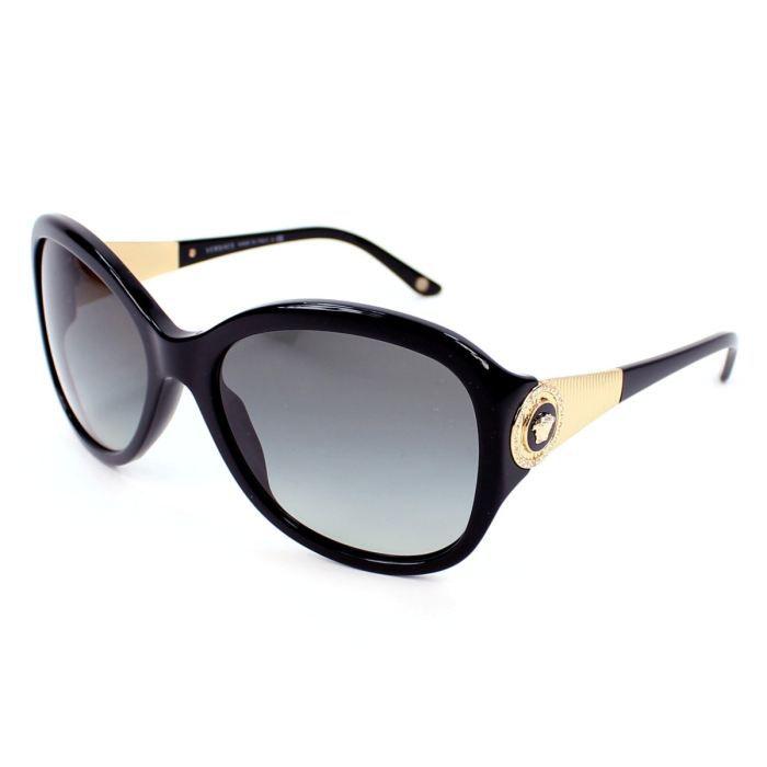 lunettes de soleil versace ve4237b noir or v noir or gris achat vente lunettes de. Black Bedroom Furniture Sets. Home Design Ideas