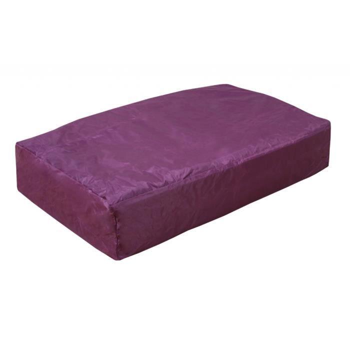 animalerie toute l offre coussin xl pour chien  x cm violet f vid