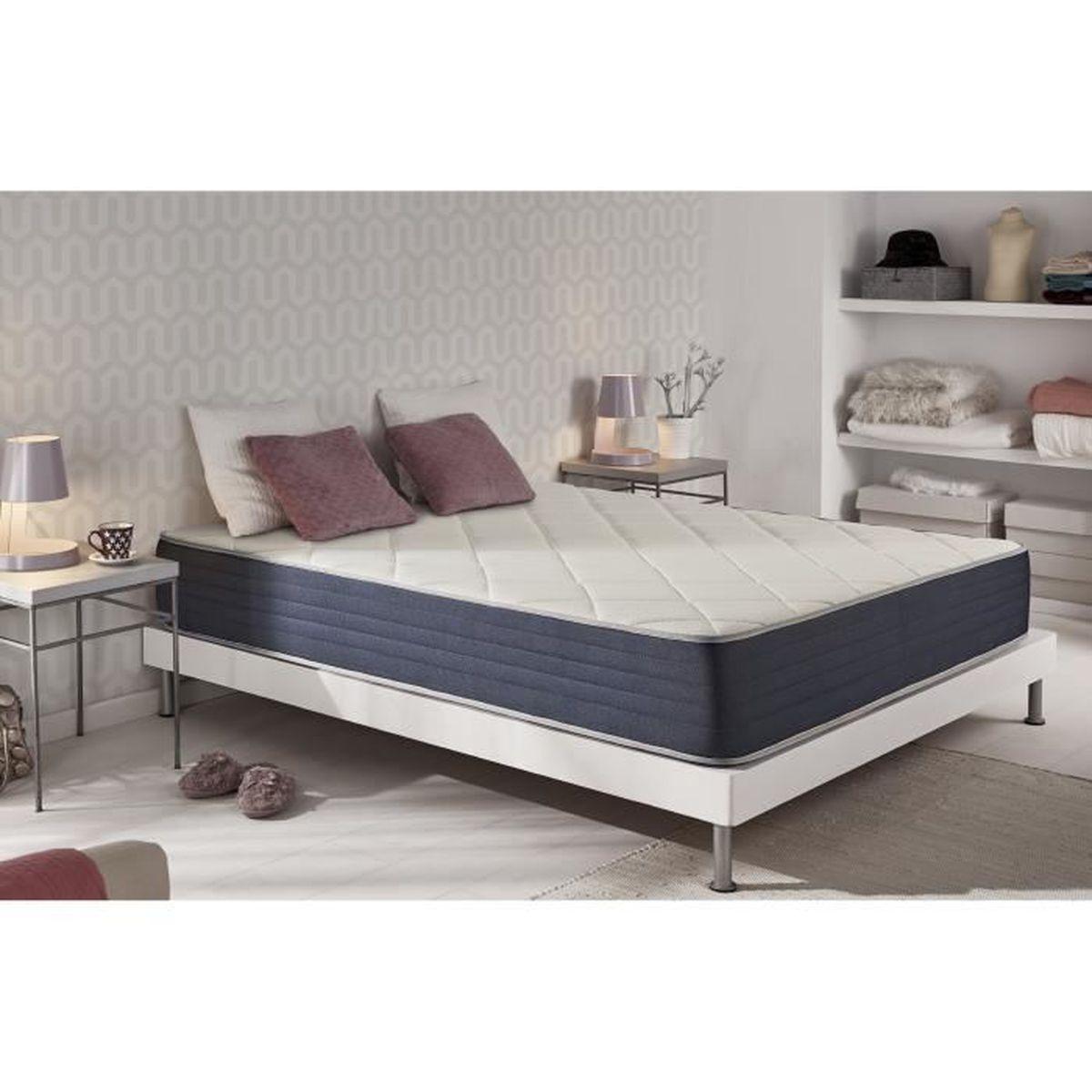 matelas 80x190 memoire de forme achat vente matelas 80x190 memoire de forme pas cher cdiscount. Black Bedroom Furniture Sets. Home Design Ideas