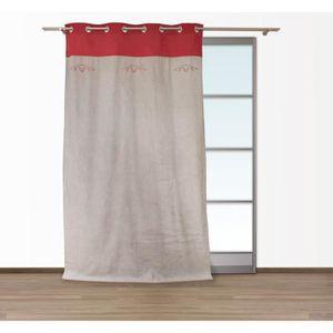 rideau rouge pour salon achat vente rideau rouge pour salon pas cher cdiscount. Black Bedroom Furniture Sets. Home Design Ideas